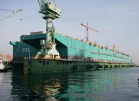 PFLNG2 hull launched
