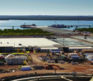 Ichthys LNG project at Darwin. Image courtesy INPEX.