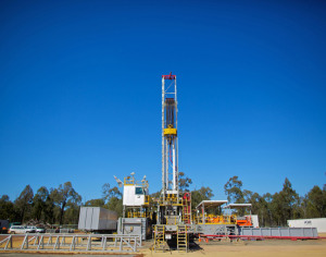 A drill rig operating in Narrabri, New South Wales. Image courtesy
