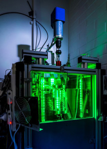 A high-pressure sapphire autoclave developed  at UWA allows researchers to visualise hydrate  particle deposition to study the rate and severity  of hydrate formation. Image courtesy UWA.