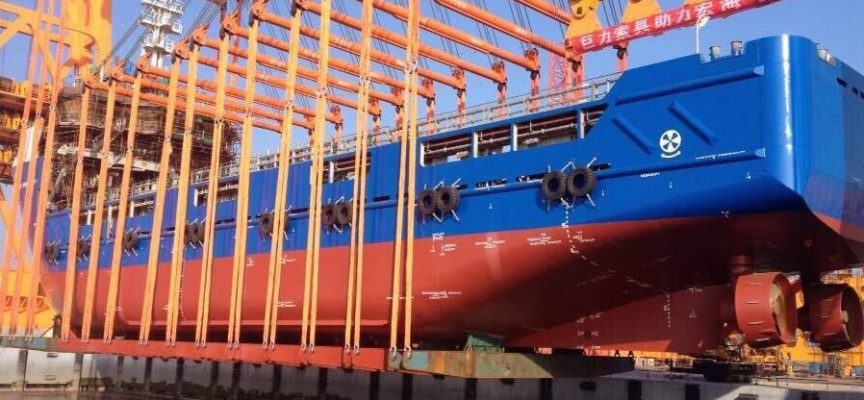 Honghua launches platform supply vessel