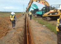 First pipes laid in Bundaberg pipeline