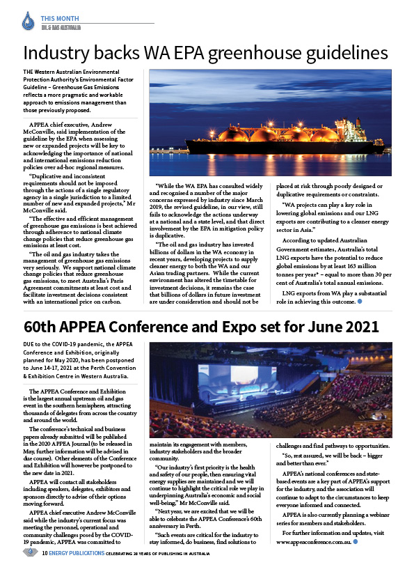 Oil & Gas Australia – April 2020 – Page 12
