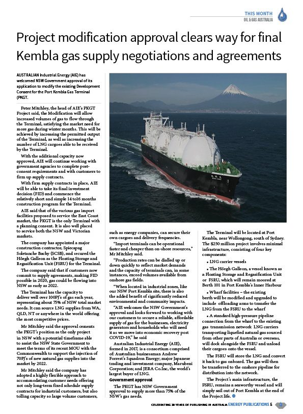 Oil & Gas Australia – April 2020 – Page 7