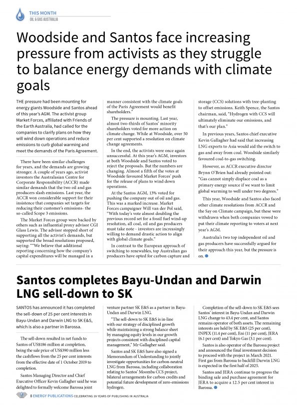 Oil & Gas Australia – April 2021 – Page 10