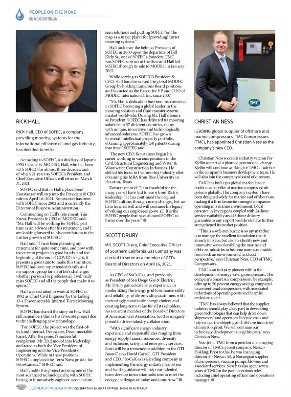 Oil & Gas Australia – April 2021 – Page 38