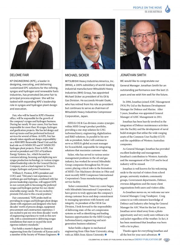 Oil & Gas Australia – April 2021 – Page 39