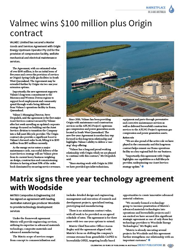 Oil & Gas Australia – December 2020 – January 2021 – Page 13
