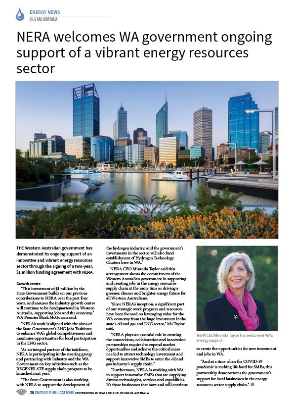 Oil & Gas Australia – December 2020 – January 2021 – Page 22