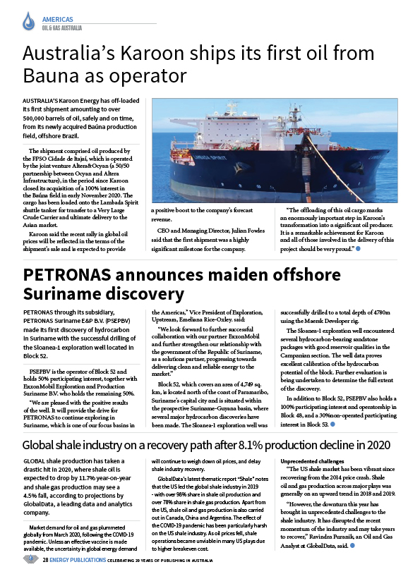 Oil & Gas Australia – December 2020 – January 2021 – Page 30