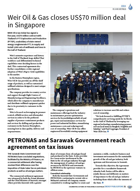 Oil & Gas Australia – December 2020 – January 2021 – Page 33