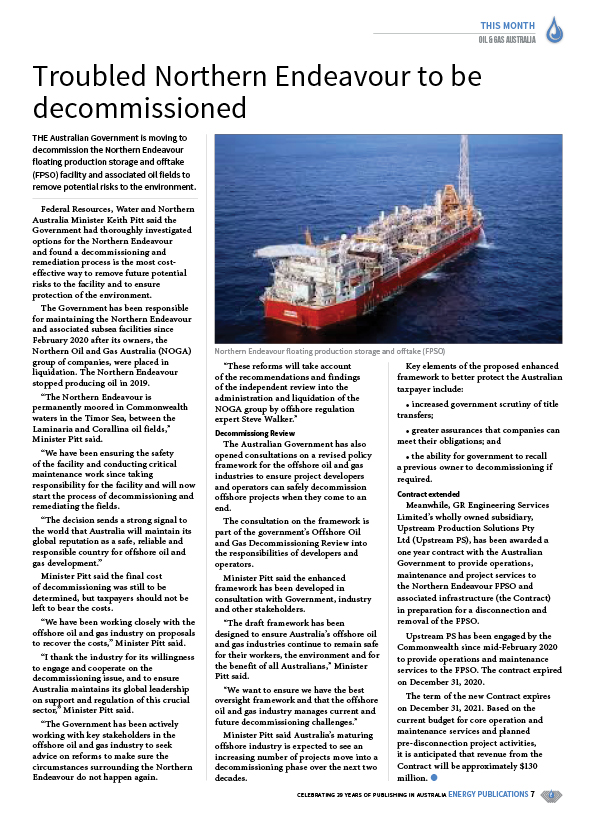 Oil & Gas Australia – December 2020 – January 2021 – Page 9