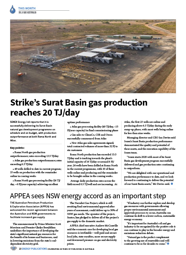 Oil & Gas Australia – February 2020 – Page 12