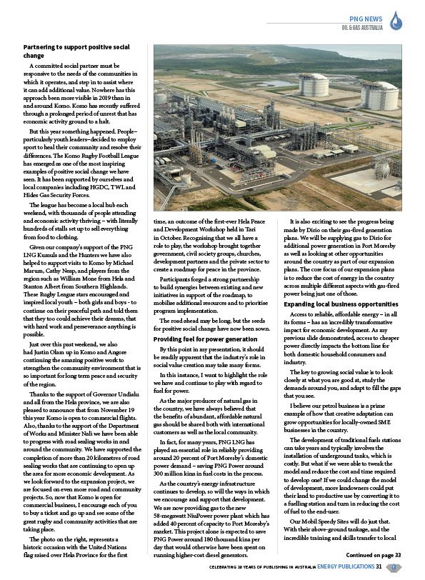Oil & Gas Australia – February 2020 – Page 33