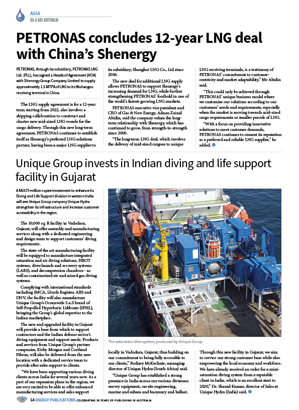 Oil & Gas Australia – February 2020 – Page 56
