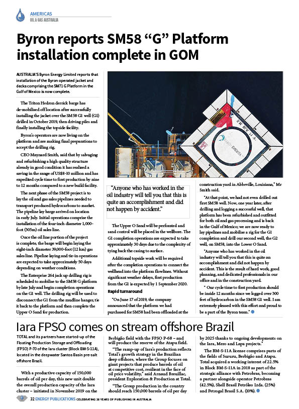 Oil & Gas Australia – July 2020 – Page 34