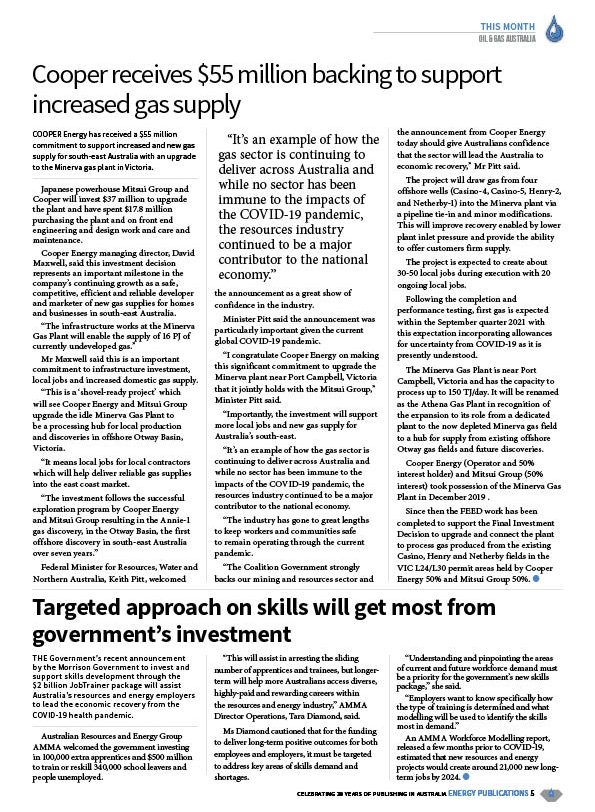 Oil & Gas Australia – July 2020 – Page 7