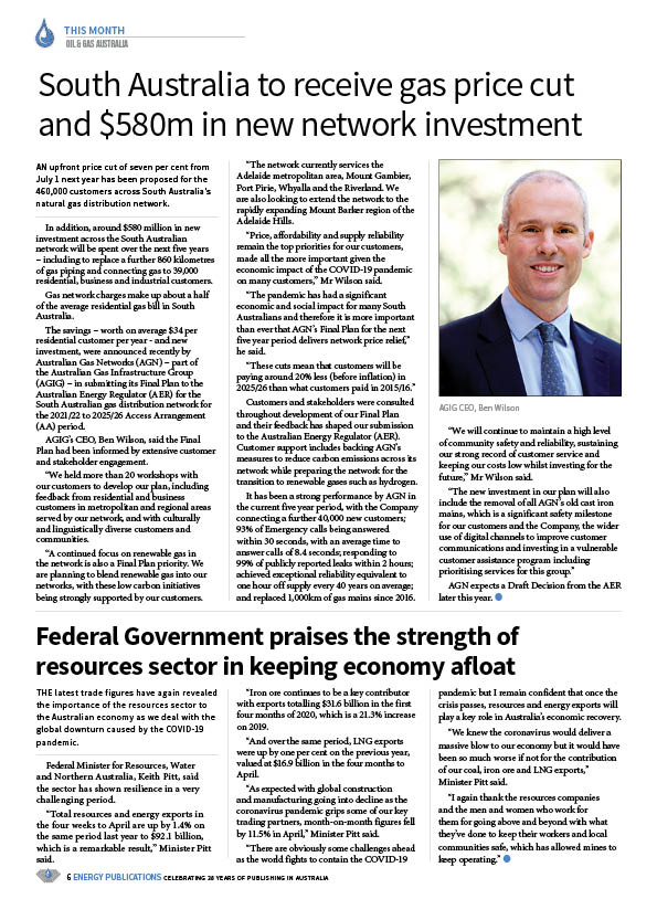 Oil & Gas Australia – July 2020 – Page 8