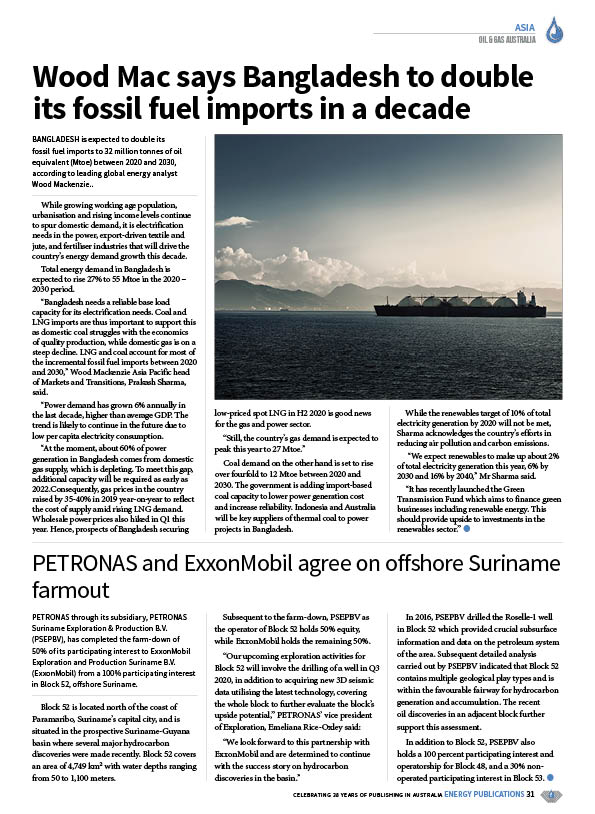 Oil & Gas Australia – May 2020 – Page 33