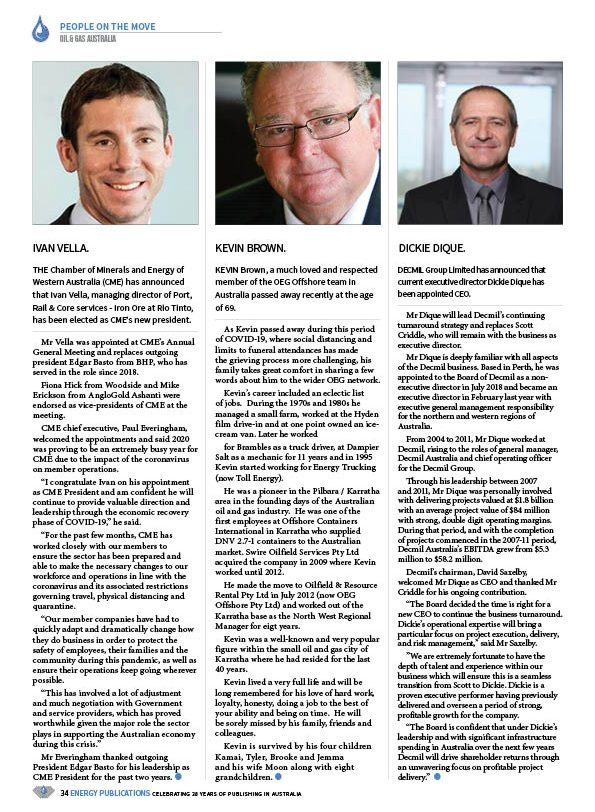 Oil & Gas Australia – May 2020 – Page 36
