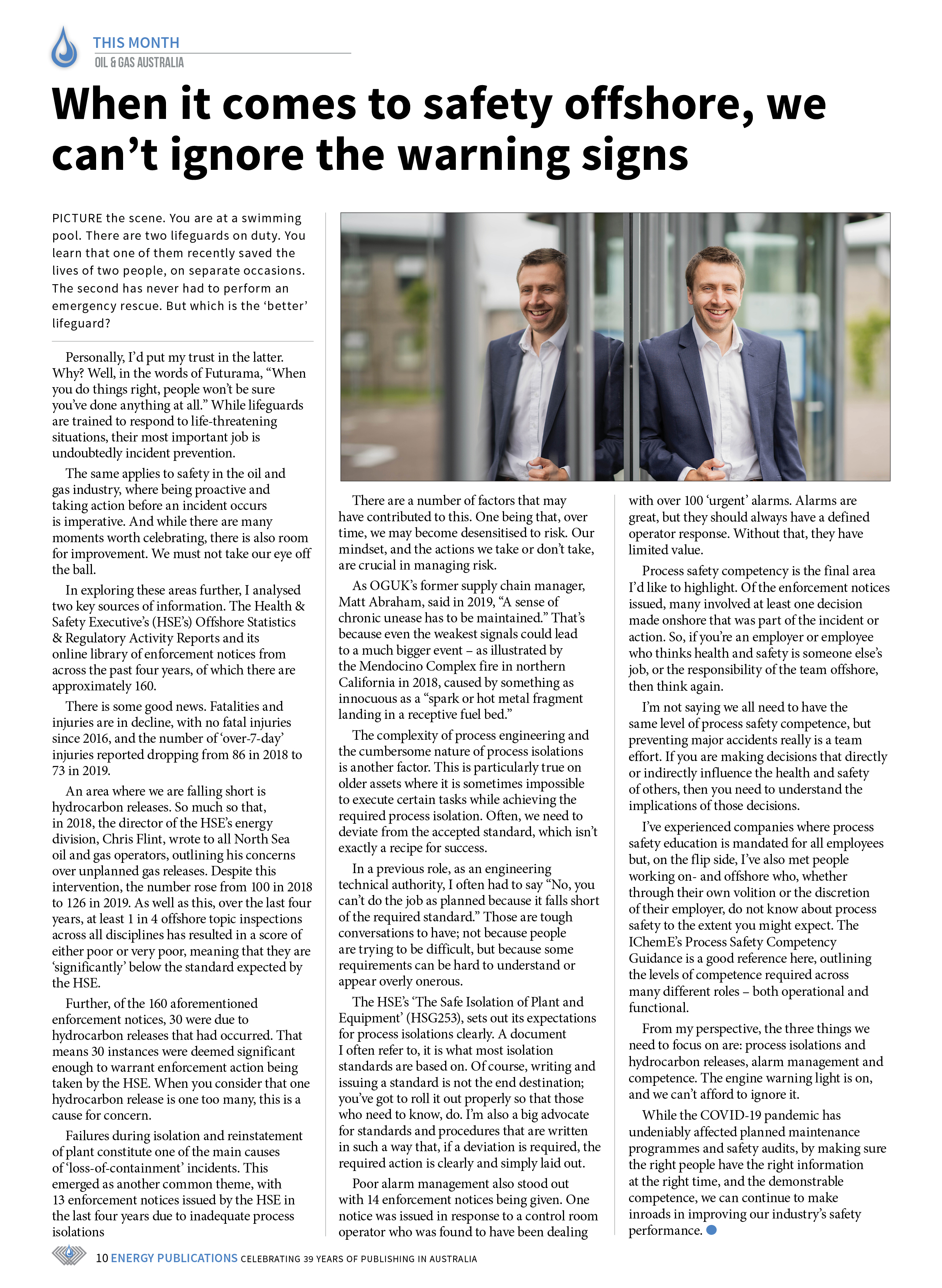 Oil & Gas Australia – May 2021 – Page 12