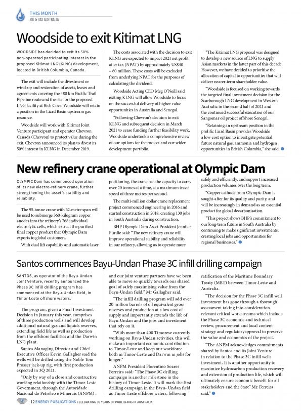 Oil & Gas Australia – May 2021 – Page 14