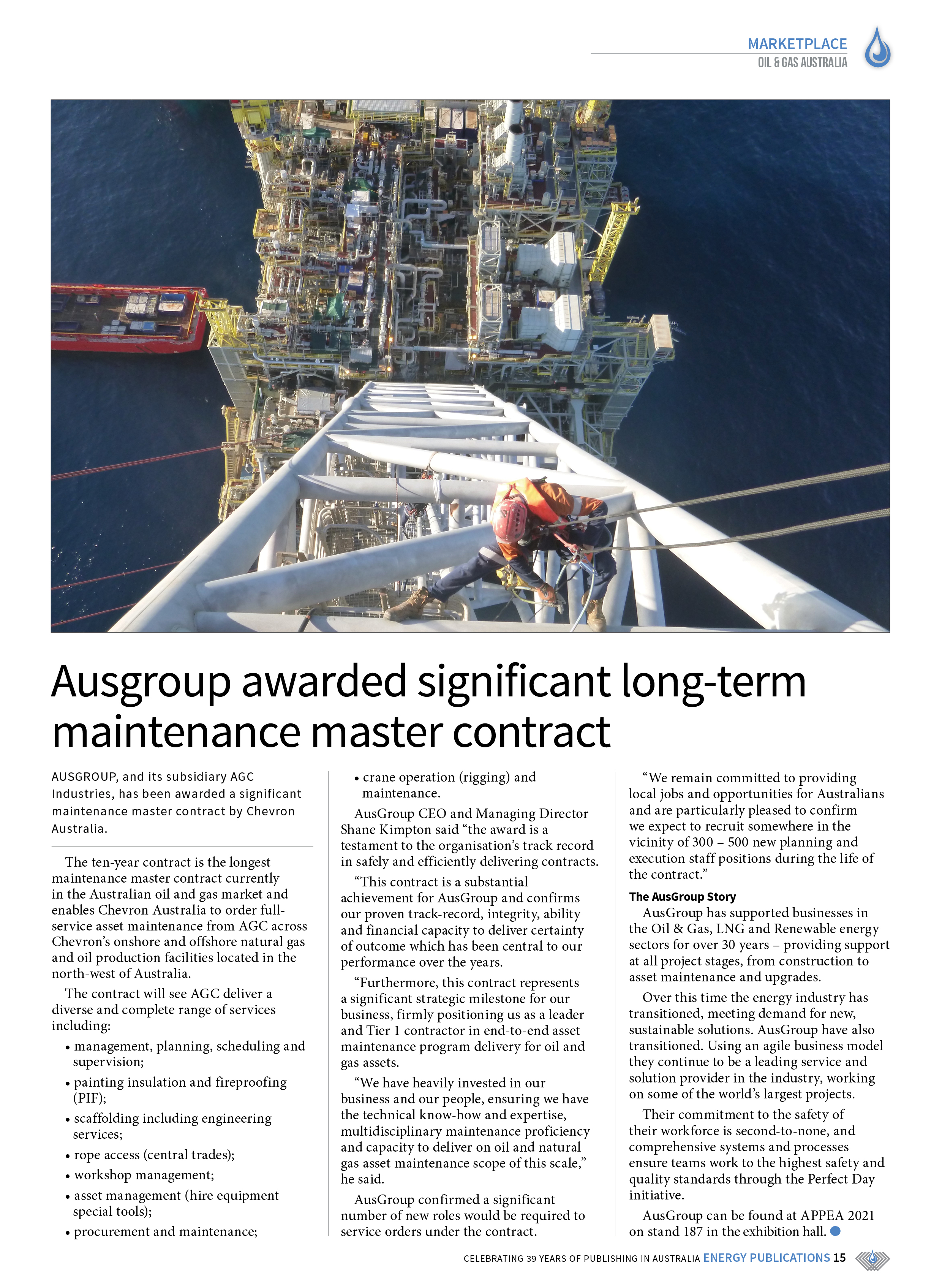 Oil & Gas Australia – May 2021 – Page 17