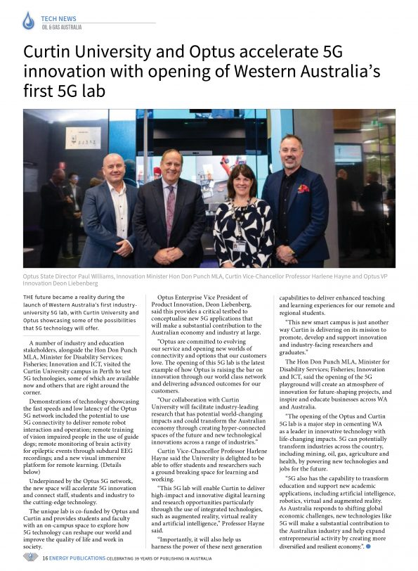 Oil & Gas Australia – May 2021 – Page 18