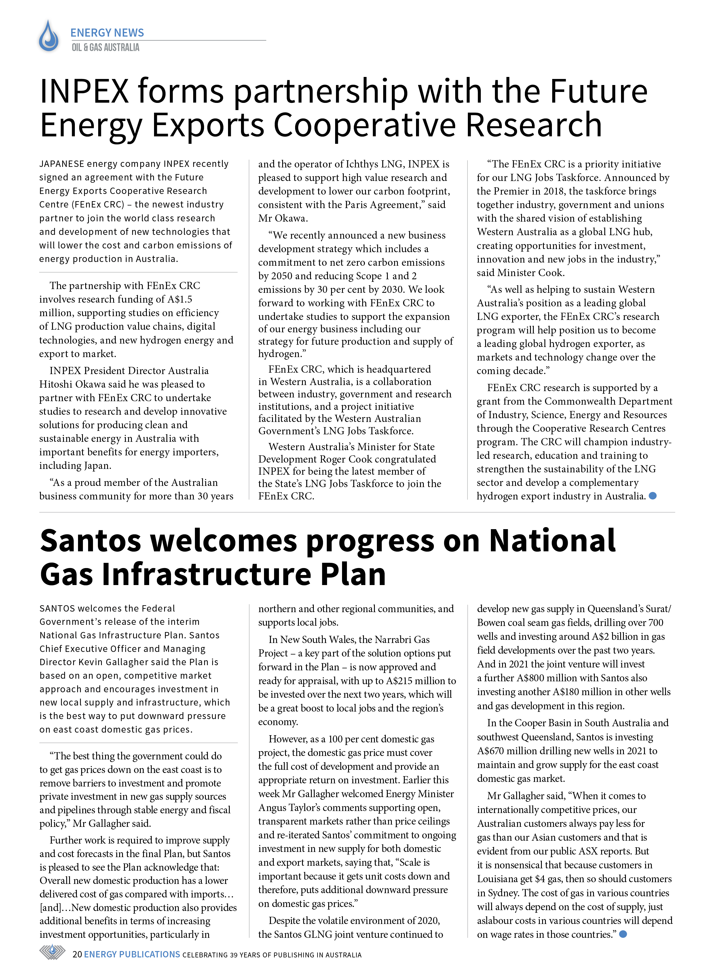 Oil & Gas Australia – May 2021 – Page 22