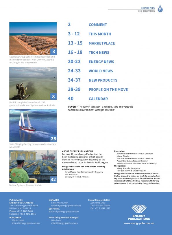 Oil & Gas Australia – May 2021 – Page 3
