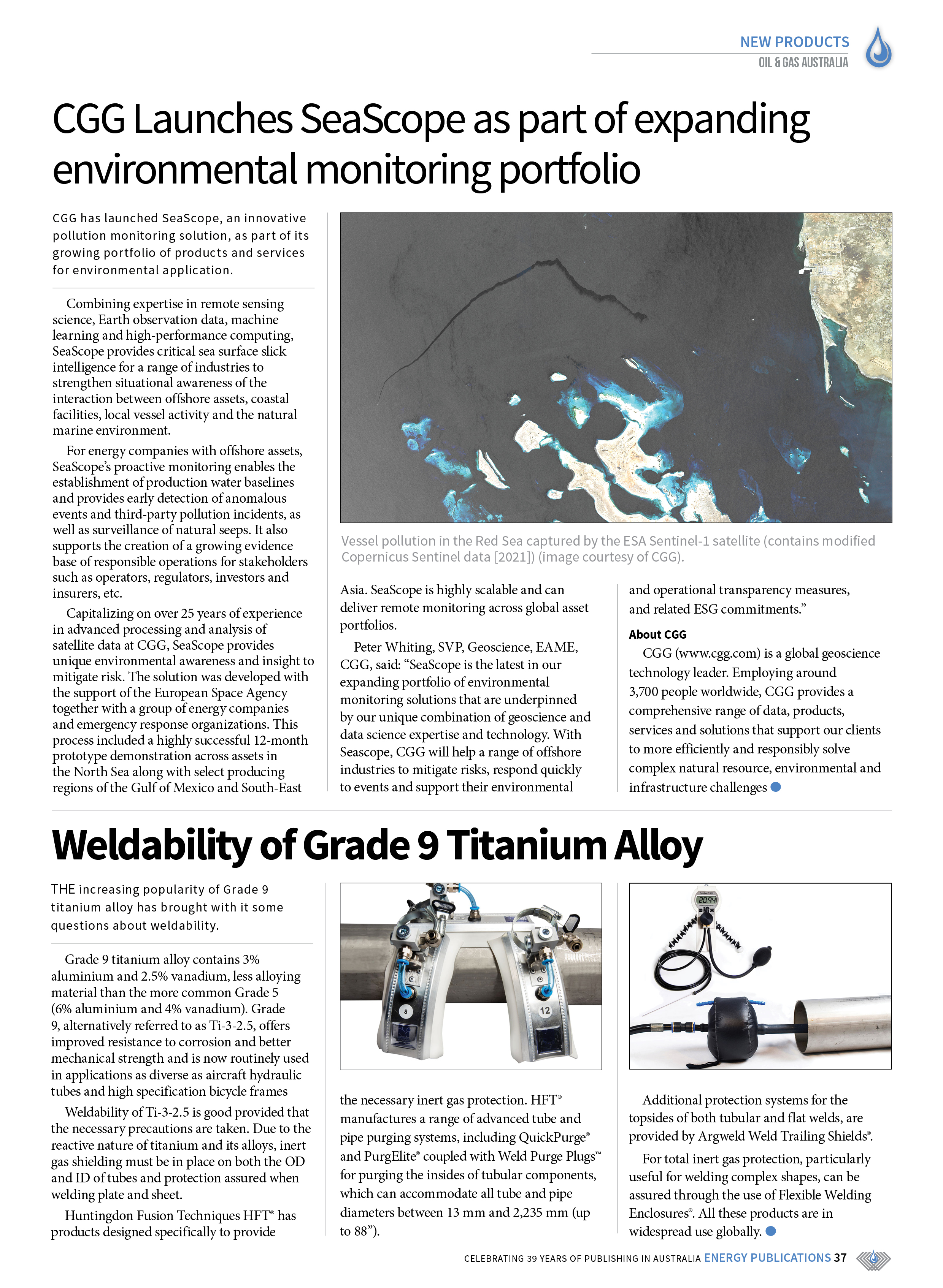 Oil & Gas Australia – May 2021 – Page 39