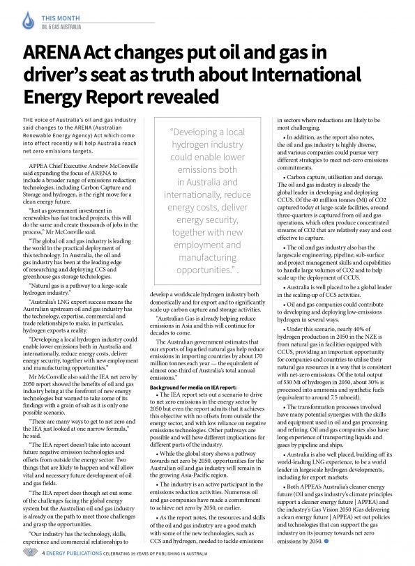 Oil & Gas Australia – May 2021 – Page 6