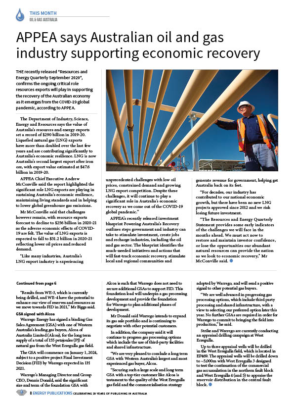 Oil & Gas Australia – October 2020 – Page 10