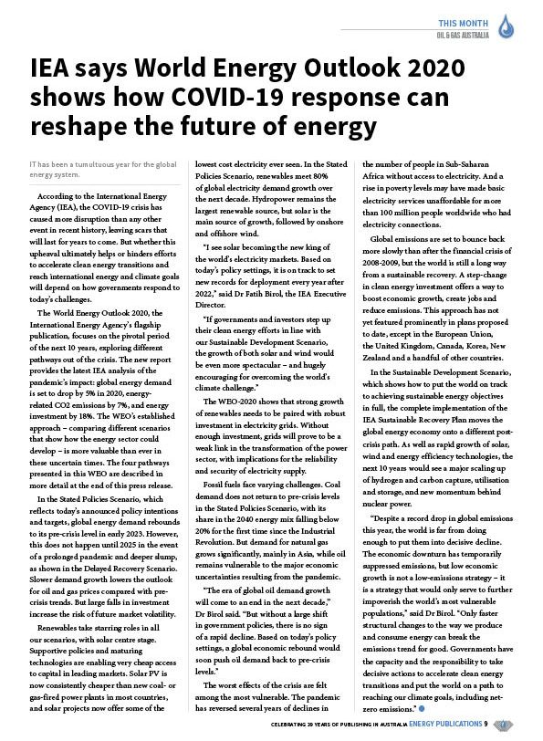 Oil & Gas Australia – October 2020 – Page 11
