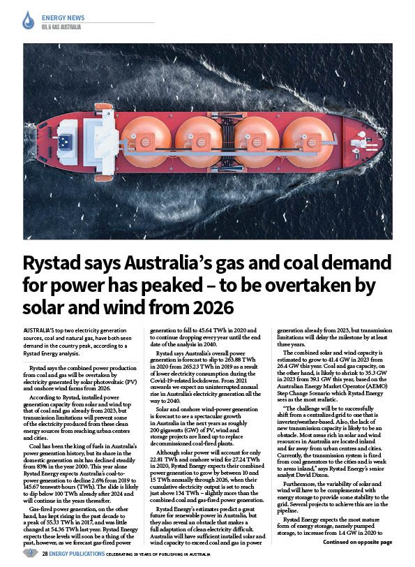 Oil & Gas Australia – October 2020 – Page 30