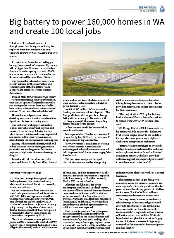 Oil & Gas Australia – October 2020 – Page 31