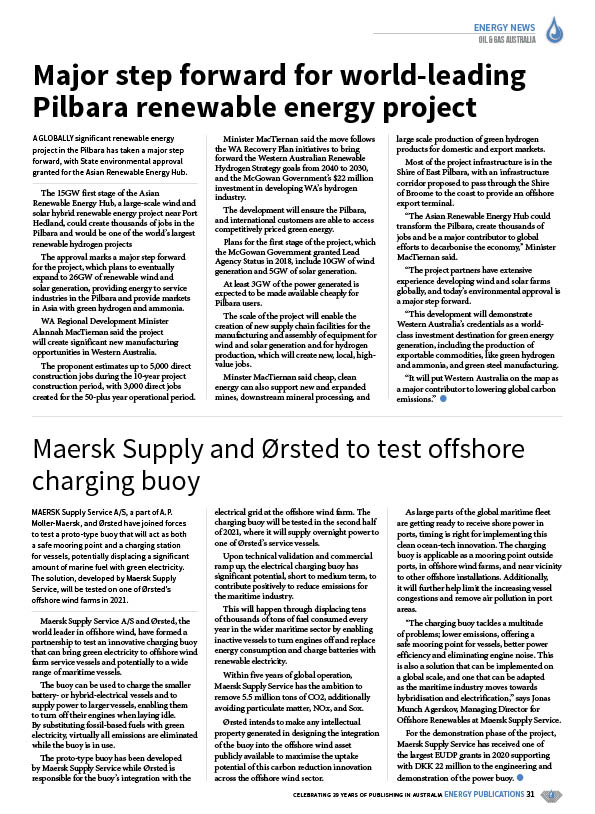 Oil & Gas Australia – October 2020 – Page 33