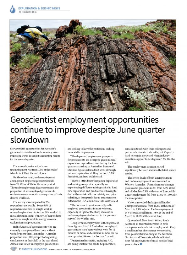 Oil & Gas Australia – October 2019 – Page 14