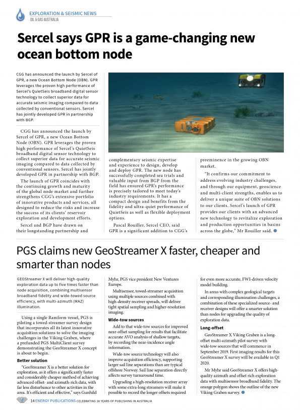Oil & Gas Australia – October 2019 – Page 16
