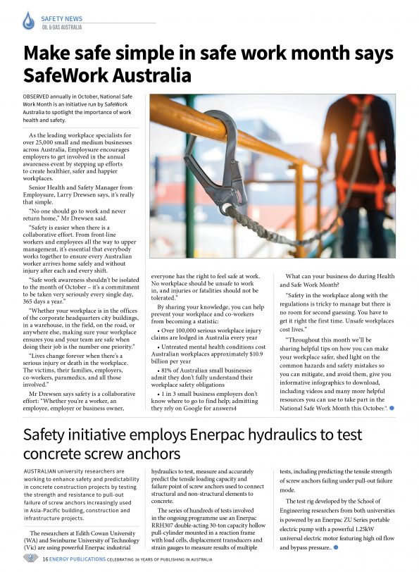 Oil & Gas Australia – October 2019 – Page 18