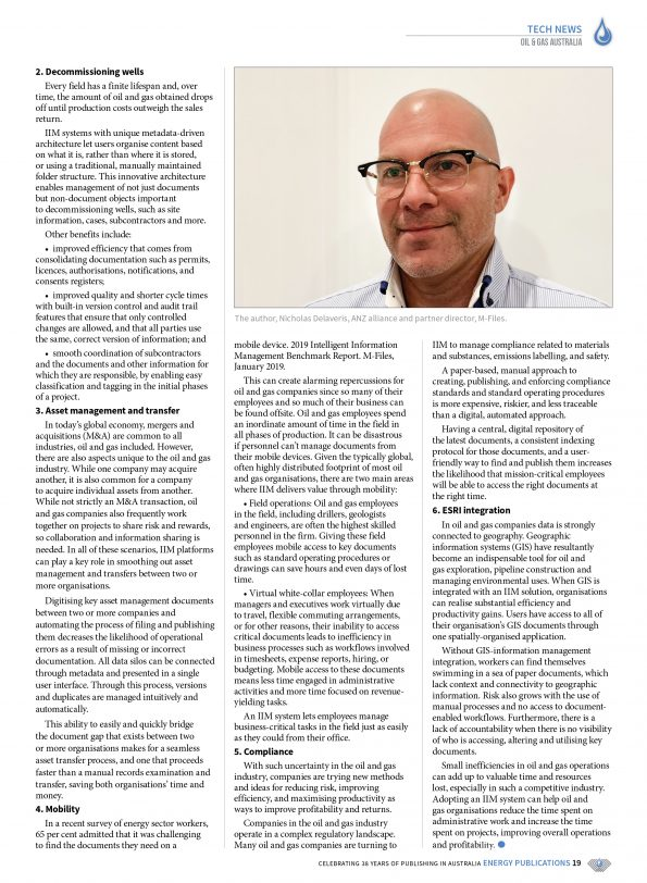 Oil & Gas Australia – October 2019 – Page 21