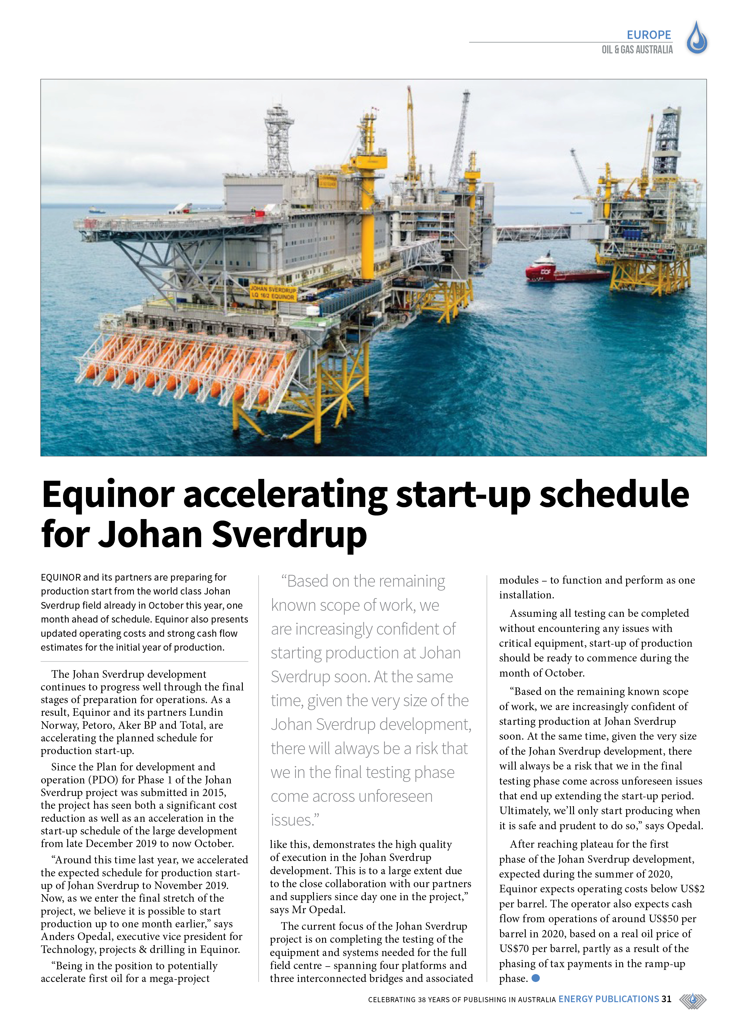 Oil & Gas Australia – October 2019 – Page 33