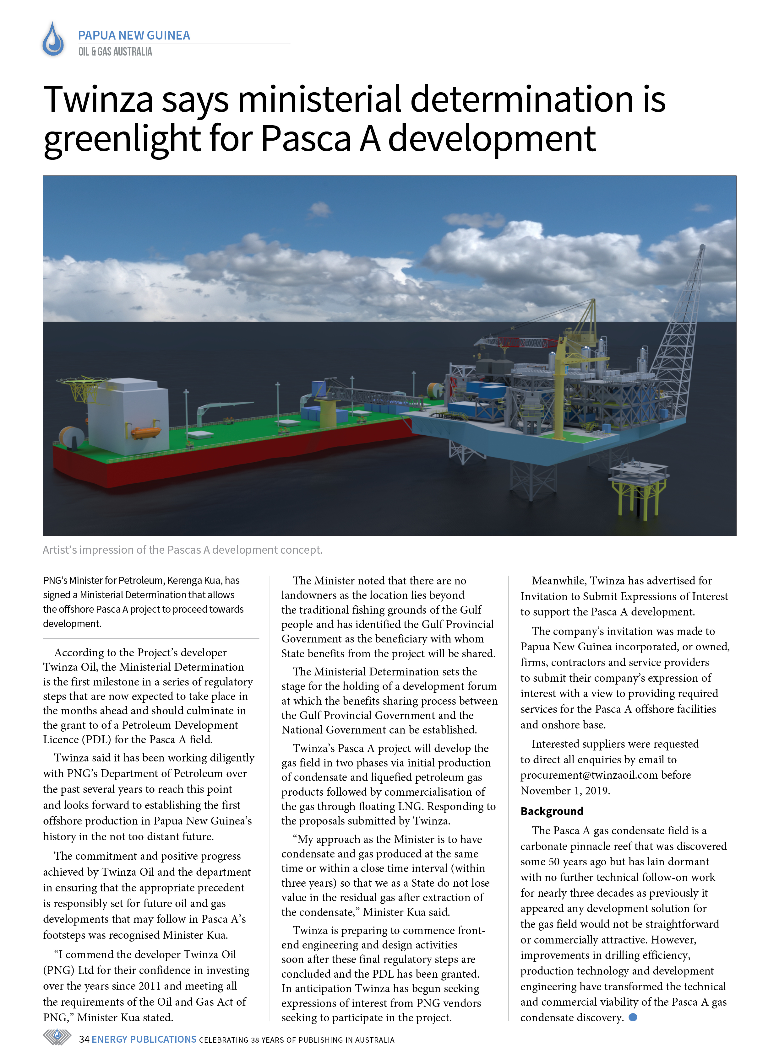 Oil & Gas Australia – October 2019 – Page 36