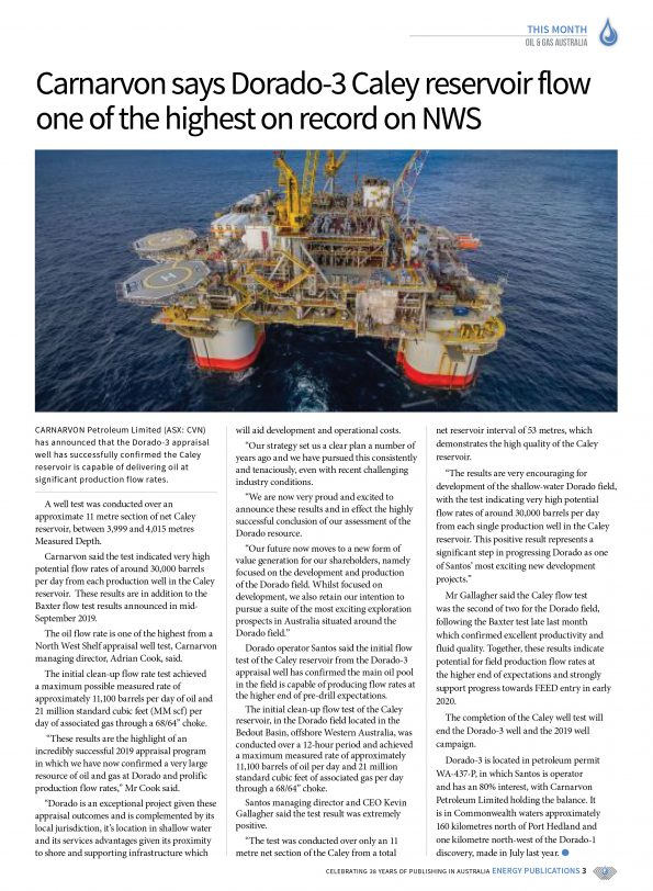 Oil & Gas Australia – October 2019 – Page 5