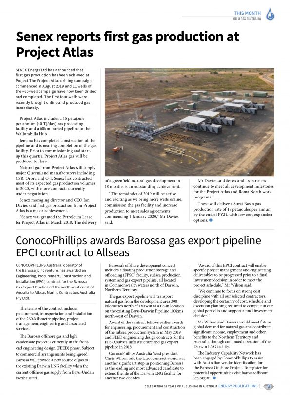 Oil & Gas Australia – October 2019 – Page 7