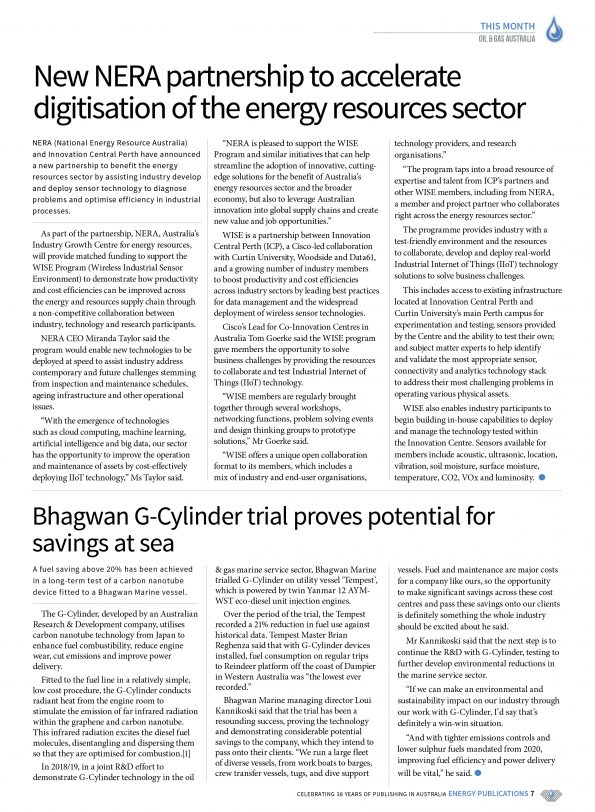Oil & Gas Australia – October 2019 – Page 9