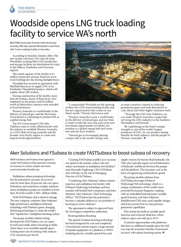 Oil & Gas Australia – May 2019 – Page 10