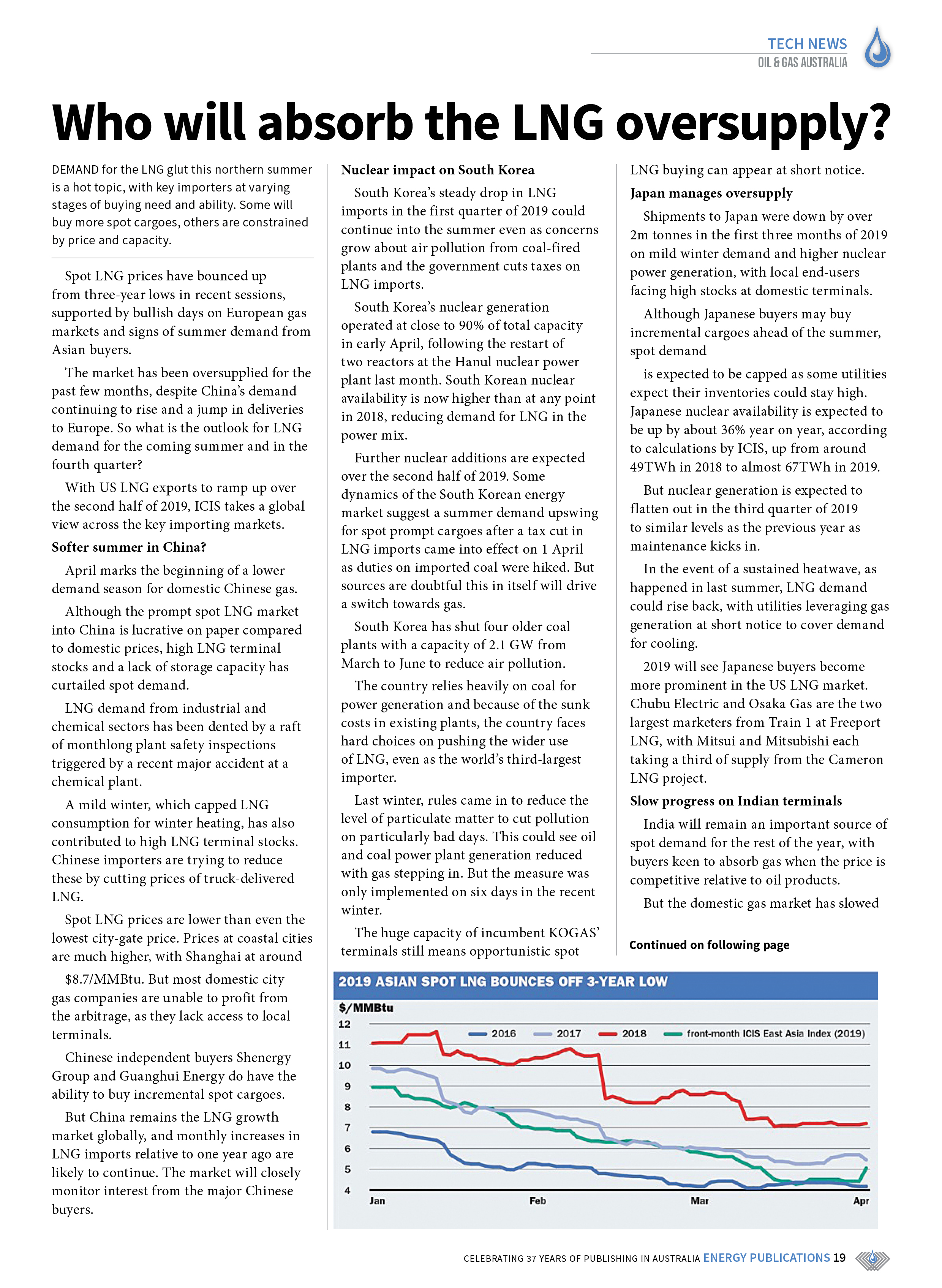 Oil & Gas Australia – May 2019 – Page 19