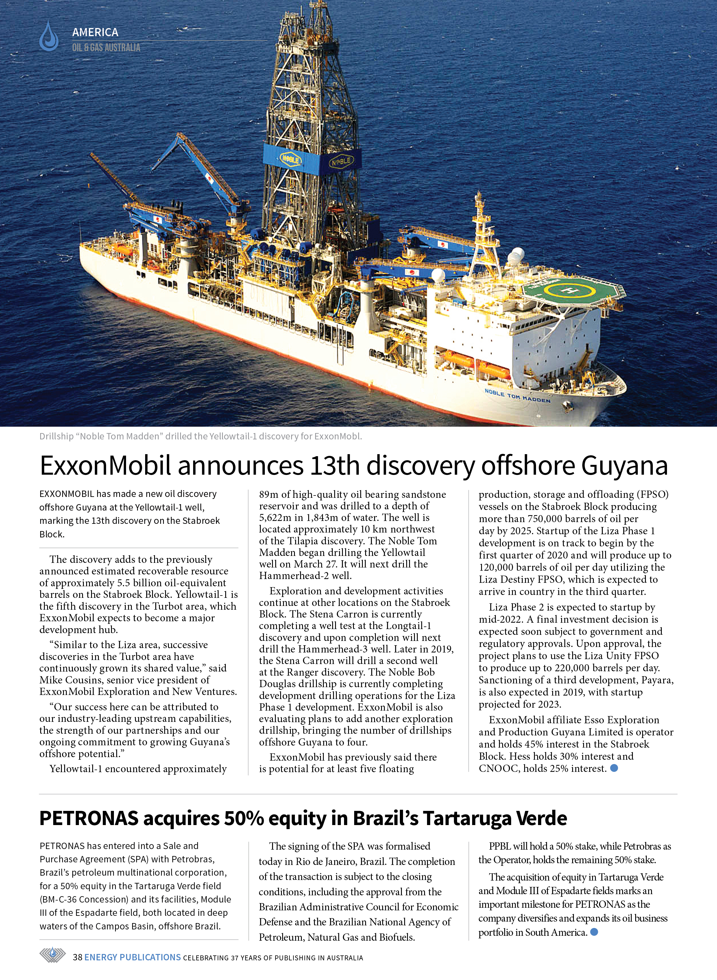 Oil & Gas Australia – May 2019 – Page 38