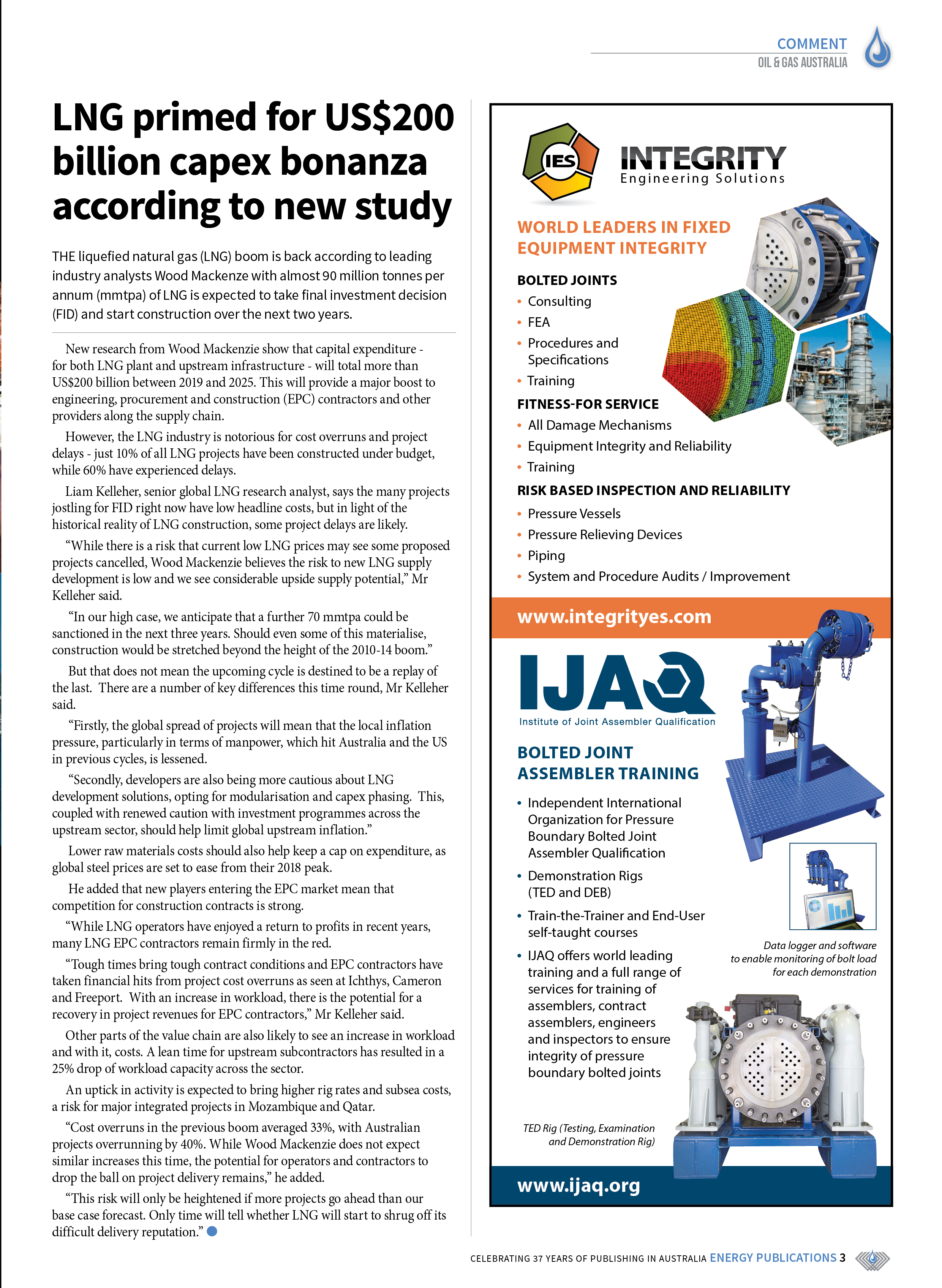 Oil & Gas Australia – May 2019 – Page 3